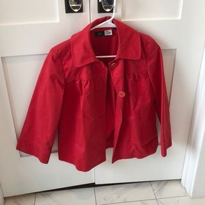 Red saks fifth avenue sport blazer